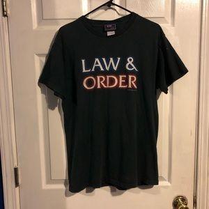 Vintage 2001 law and order tee